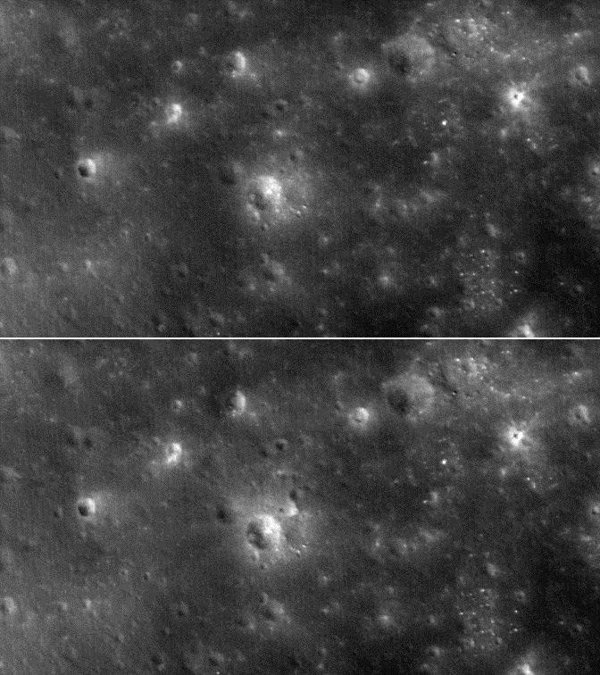 Лунный орбитальный зонд обнаружил место падения аппарата LADEE