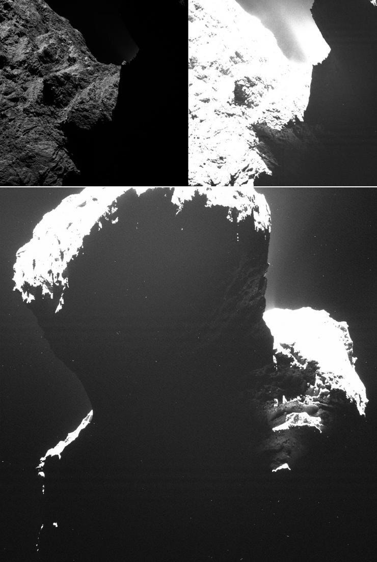 Темная сторона кометы 67P/Чурюмова-Герасименко