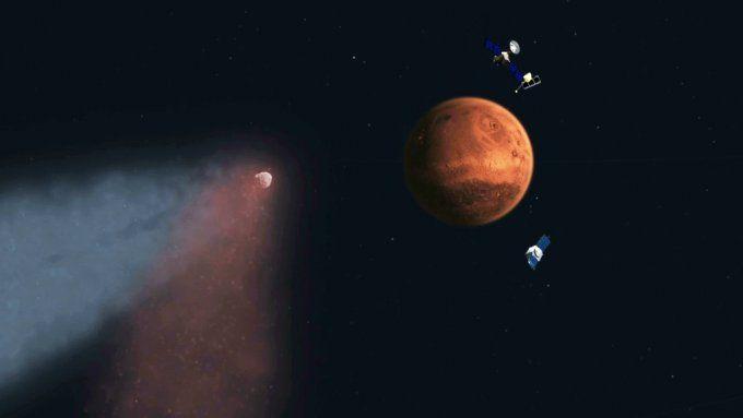MAVEN помог изучить влияние пролета кометы на марсианскую атмосферу