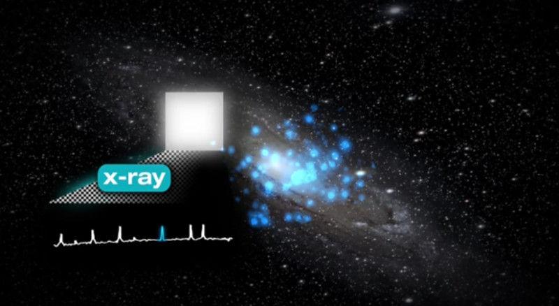 Исследователи зафиксировали сигнал от черной материи