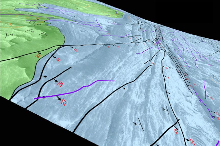 Признаки озер и землетрясений на древнем Марсе