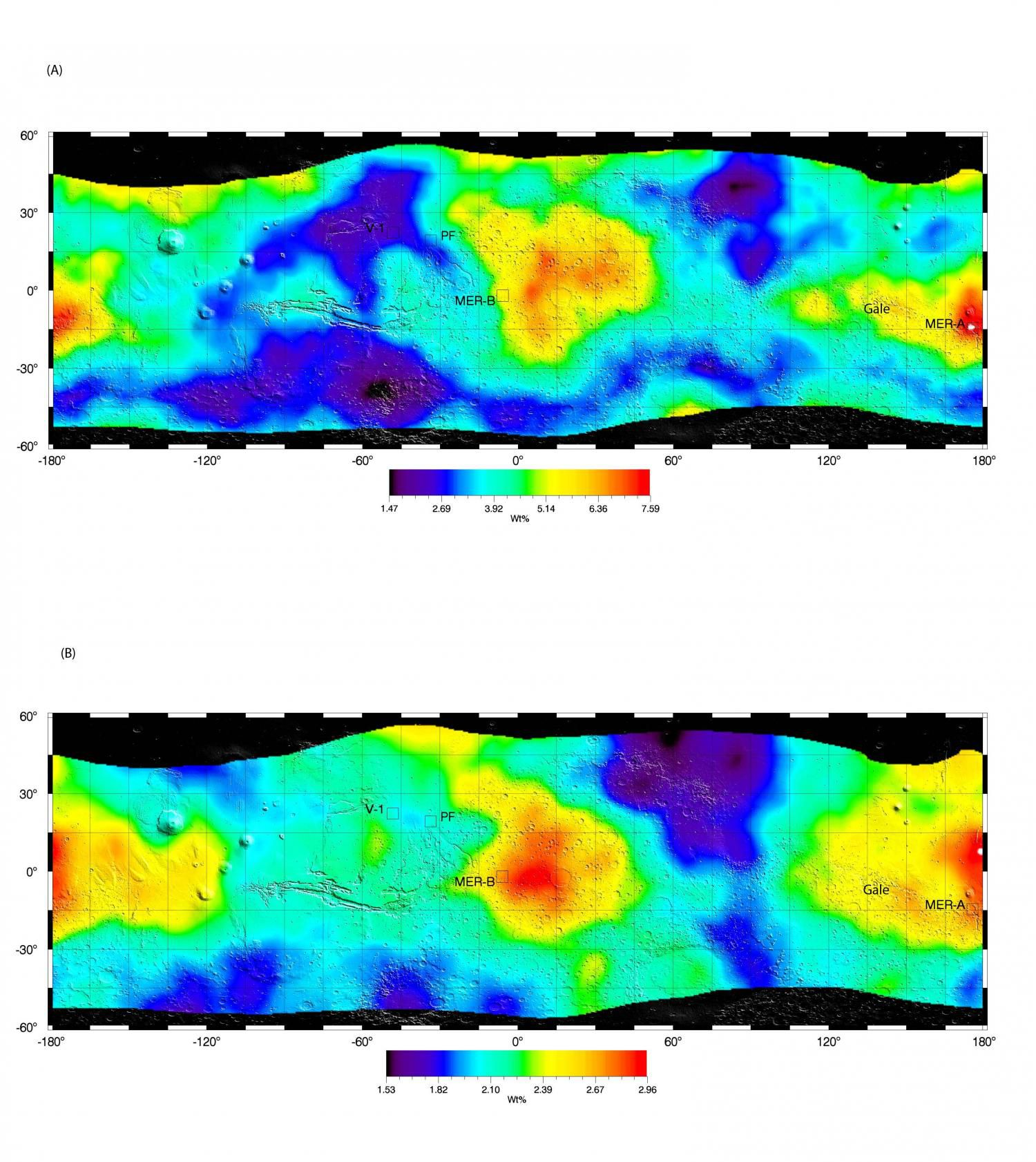 Анализ марсианской почвы показывает наличие связанной с сульфатами воды