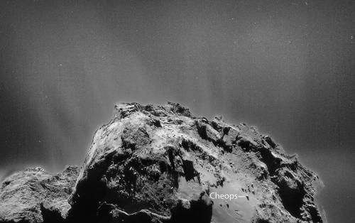 Комета Чуримова-Герасименко окружена облаком пыли