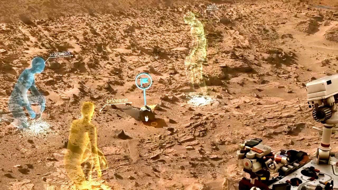 Сотрудничество НАСА и Microsoft позволит ученым «работать на Марсе»