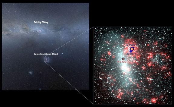 Обнаружены источники гамма-сигналов, посылаемых из-за пределов нашей Галактики