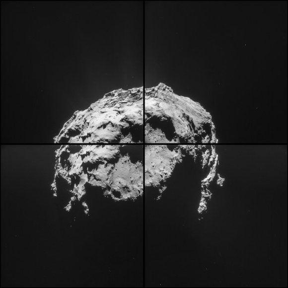 Первые изображения кометы 67p/C-G получены от пролетающего КА Розетта