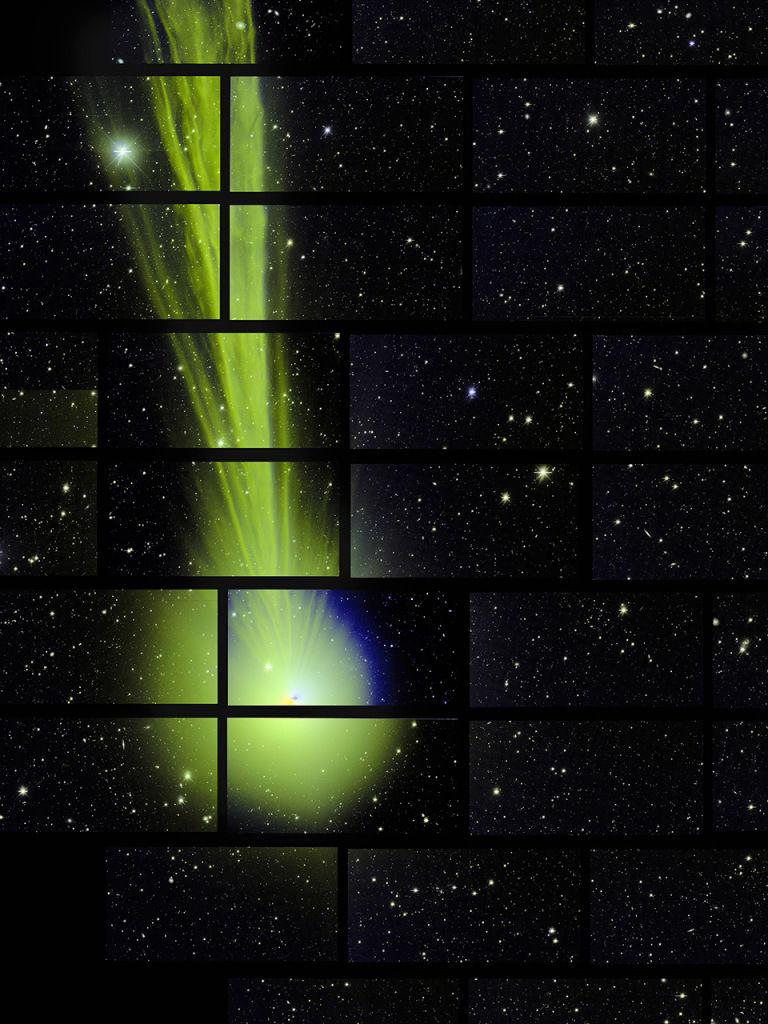 Камера DECam запечатлела комету Lovejoy