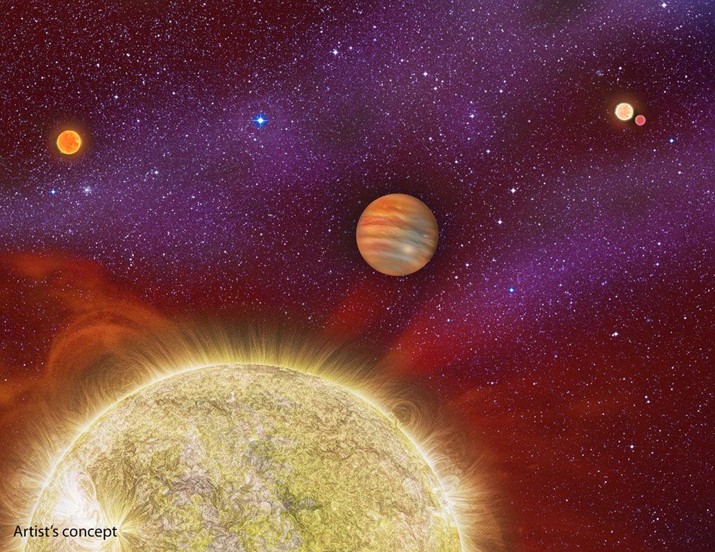 Экзопланета «выращена» семейством из четырех родительских звезд