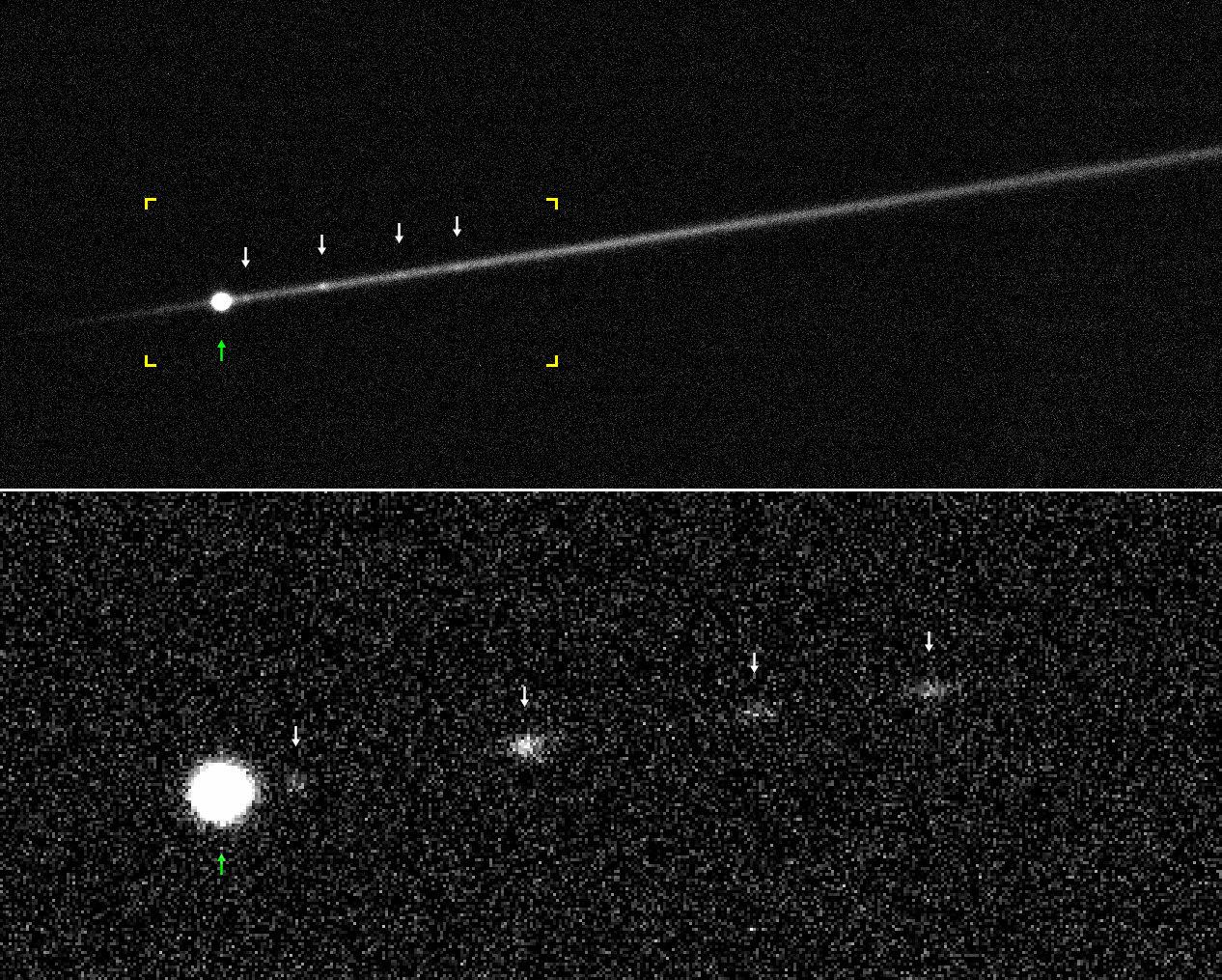 Необычный астероид разрывается на части от быстрого вращения