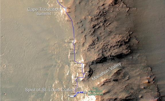 Марсоход «Opportunity» преодолел марафонскую дистанцию