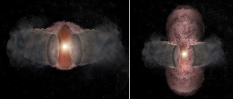 Астрономы наблюдают массивную звезду с перерывом в 18 лет