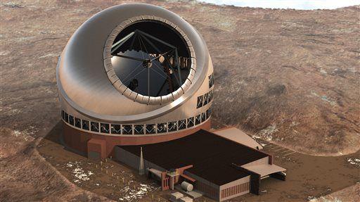 На Гавайях приостановлено строительство тридцатиметрового телескопа