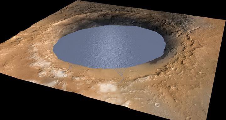 На Марсе может находиться жидкая соленая вода, выяснили ученые
