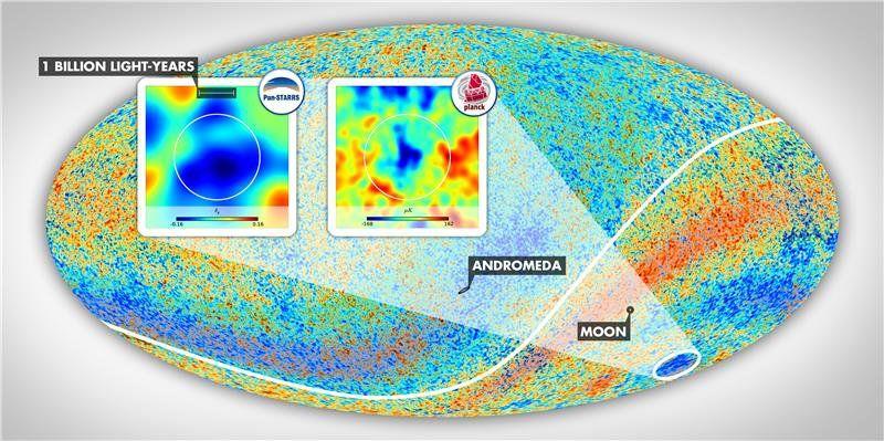 Холодное пятно указывает на крупнейшую структуру Вселенной