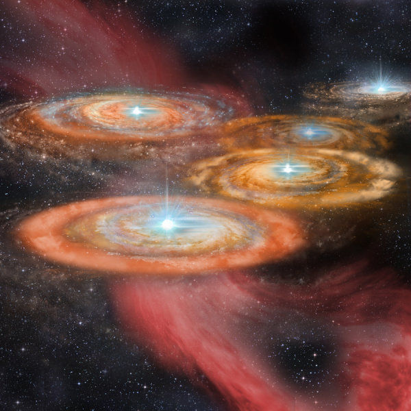 Первые звезды Вселенной собирались в яркие скопления, выяснили ученые