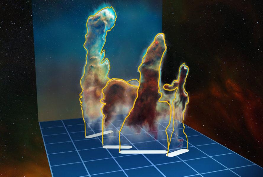 Туманность Орла: «Столпы творения» теперь смоделированы в 3-D