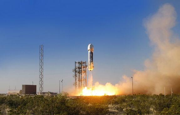 Компания Blue Origin провела успешные испытания частного космического корабля
