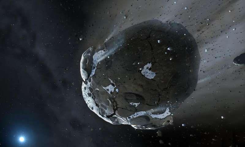 Астероиды и кометы могли доставить воду на экзопланеты и белые карлики