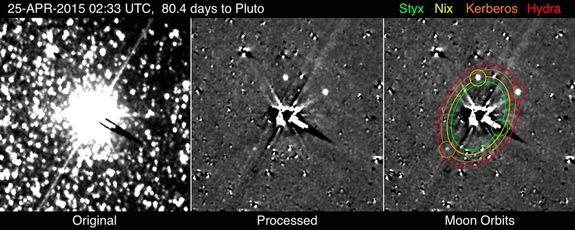 Зонд НАСА заснял все пять известных спутников Плутона