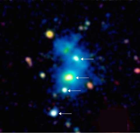 Астрономы открыли уникальный космический объект – четверной квазар