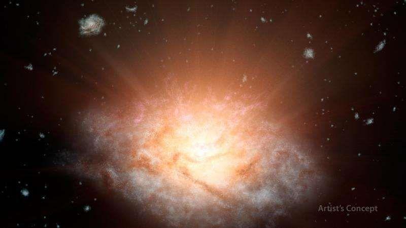 Телескоп WISE открывает самую яркую галактику Вселенной
