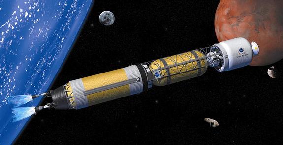 Глава НАСА хочет вполовину сократить время полета на Марс