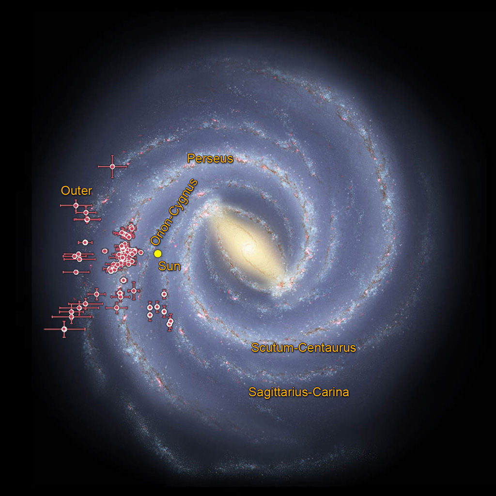 Астрономы дополняют карту Млечного пути, двигаясь от центра к периферии