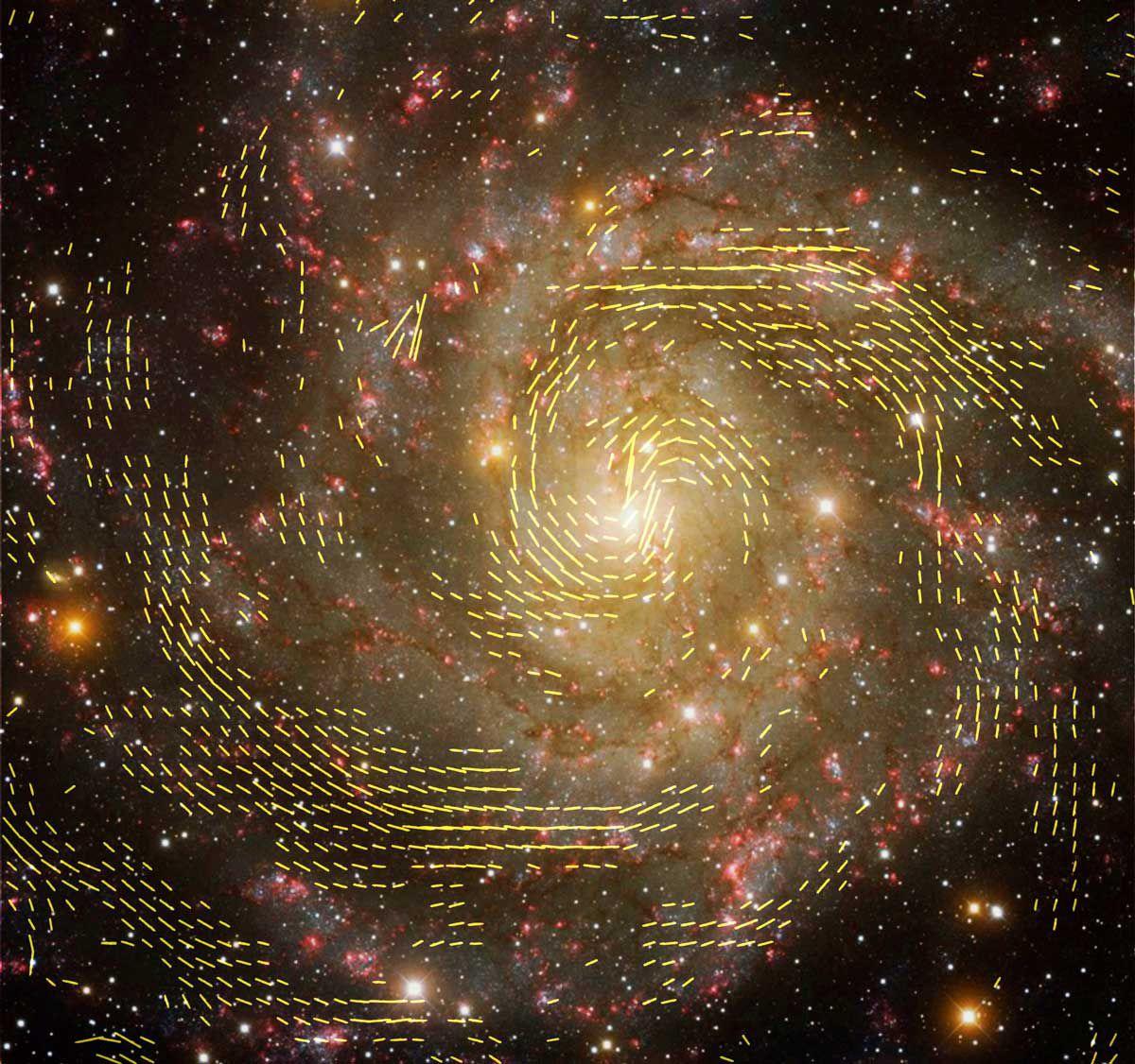 Открытие магнитных полей дает ключ к пониманию процессов формирования галактик