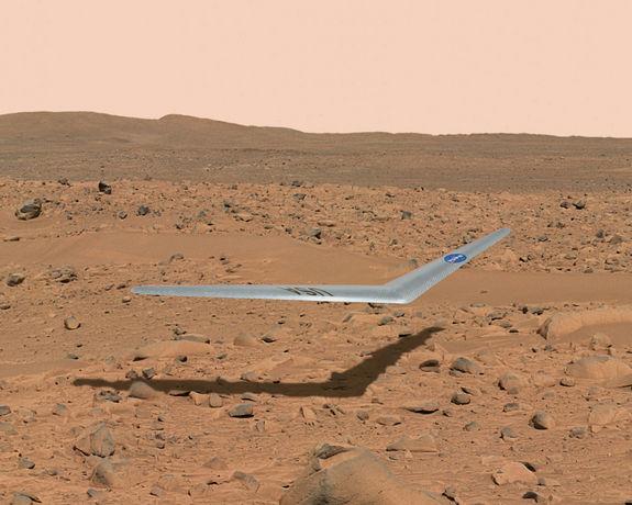 Просторы над Марсом, возможно, доведется бороздить крошечному планеру Prandtl-m