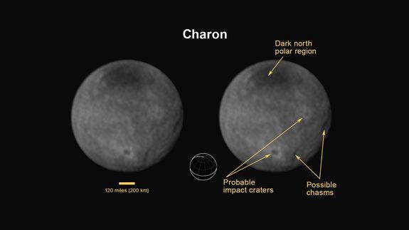 Зонд «Новые горизонты» обнаружил на Хароне огромный каньон