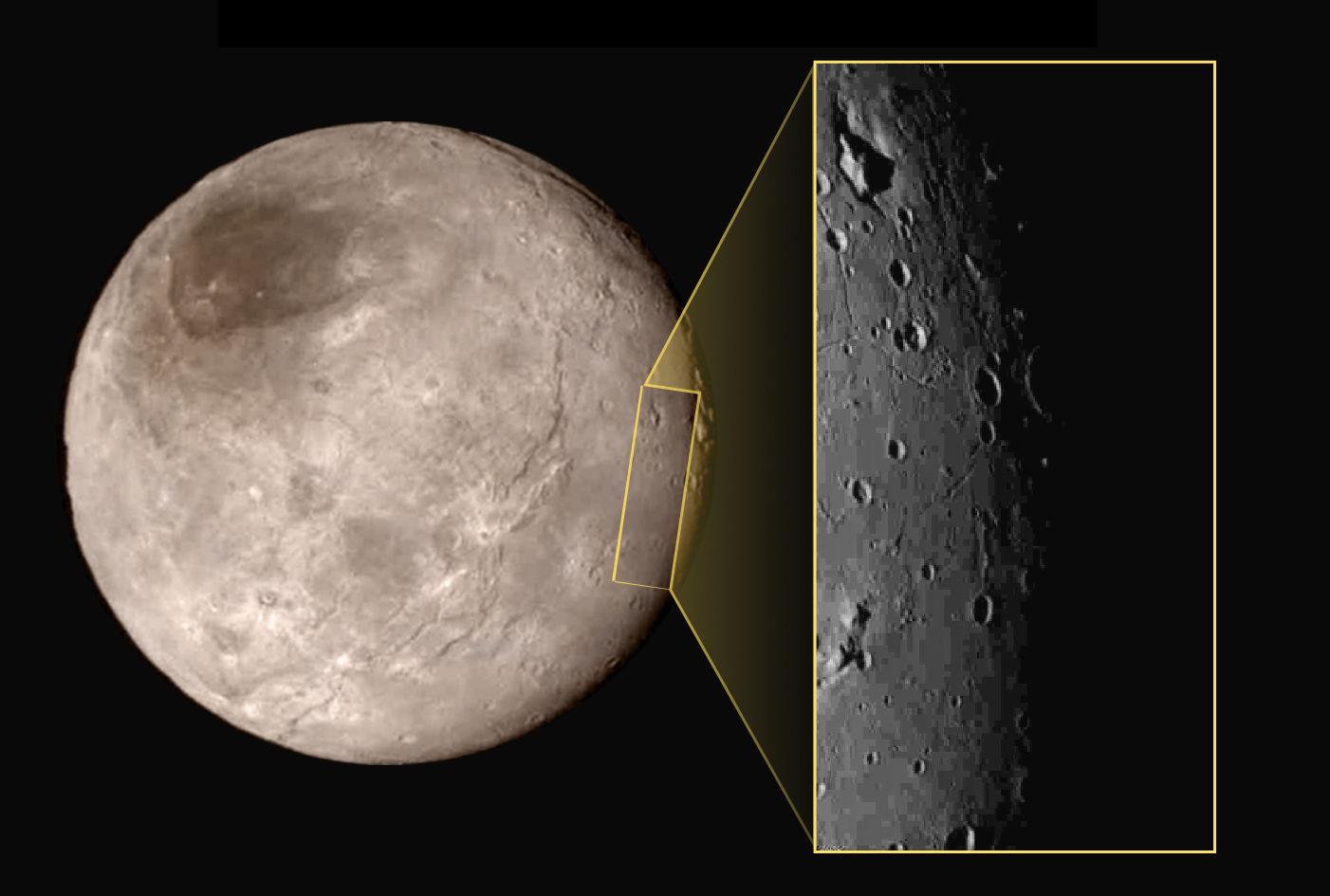 Новые снимки от зонда «Новые горизонты»: «пуп» Харона